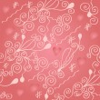 Stock Vector: Romantic seamless wallpaper with hearts