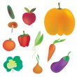 Vegetables set — Stock Vector