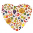 Abstract floral autumn heart — Stockvektor