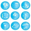 Vacations icons set — Imagen vectorial