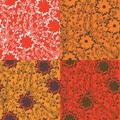 Floral textures set — Vetorial Stock
