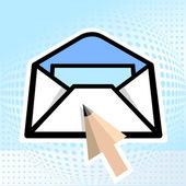 E-mail, pencil — Stock Vector