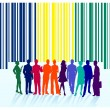 Bar code label, group — Vettoriali Stock