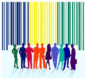 Bar code label, group — Stock Vector