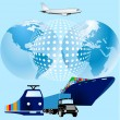 Cargo world-wide — Stock Vector