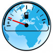 Gas gauge world — Stock Vector