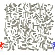 Letter figure piling - Image vectorielle