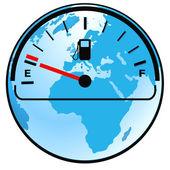 Gas gauge world — Stock Vector