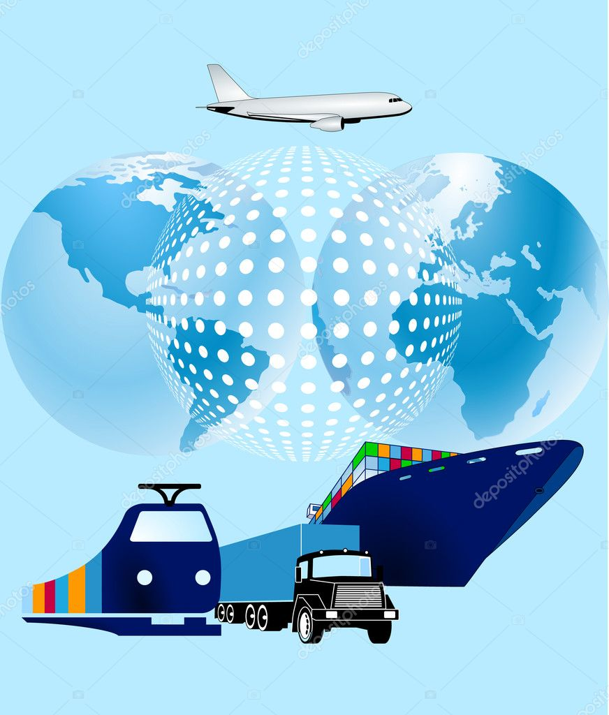 Cargo world-wide — Stock Vector #3966268