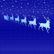 Reindeer in heaven - Image vectorielle