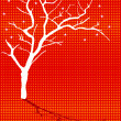 Winter season tree - Stock Vector