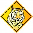 Stock Vector: Tiger Sign