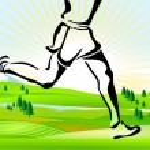 Cross country running — Stock Vector