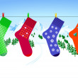 X-mas sock — Stock Vector