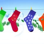 X-mas sock — Stock Vector