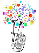 Tuba Party — Stock Vector