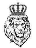 Heraldische dier met kroon — Stockvector