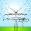 Electrical towers — Stock Vector