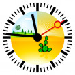 Stock Vector: Climate change time