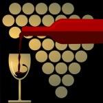 Red Wine Splashing — Stock Vector