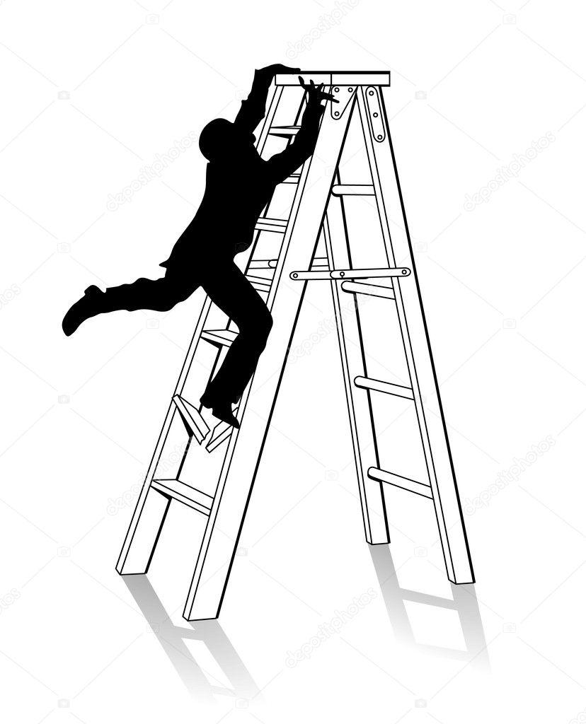 梯子— 图库矢量图片#4203125