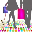 Shopping — Image vectorielle
