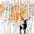 Royalty-Free Stock Vector Image: Deer at deep forest