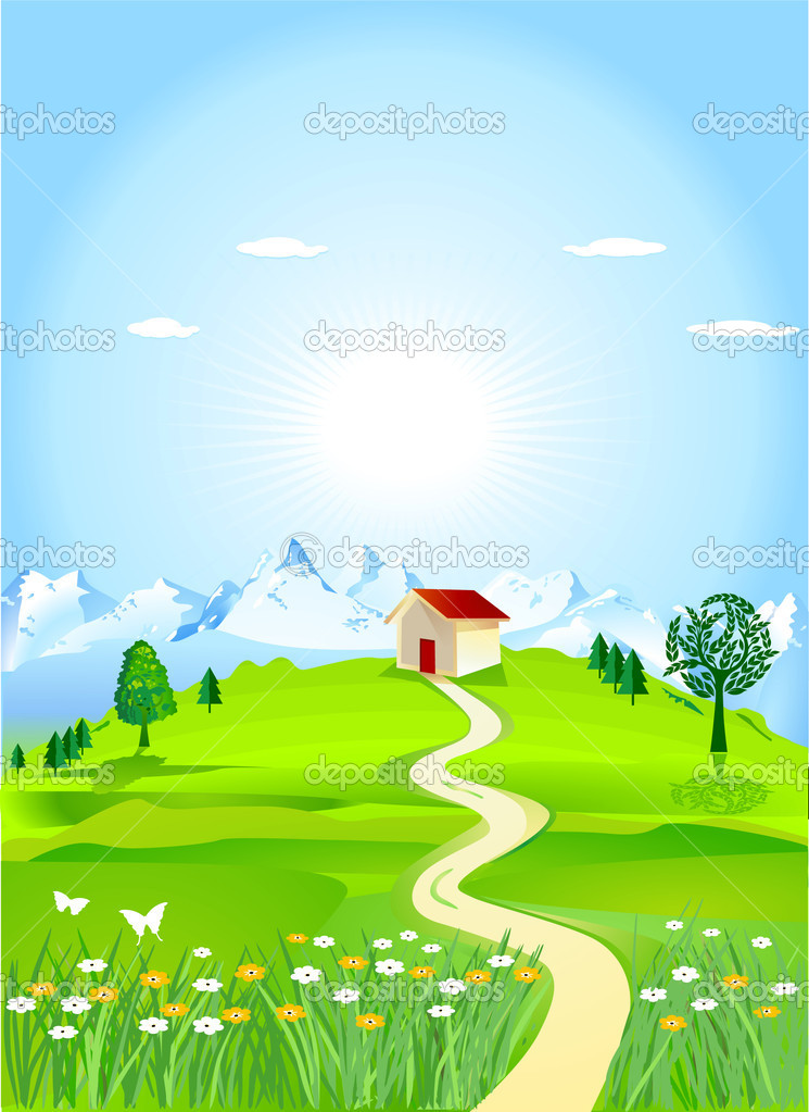 Mountain meadows  Stock Vector #4265531