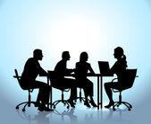 Team meeting — Stock Vector