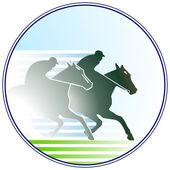 Horse-racing sign — Vector de stock