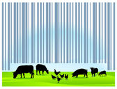 Barcode agriculture — Stock Vector