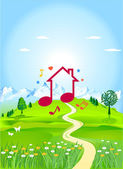 Dream house — Stock Vector