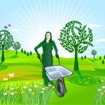 Spring gardening — Stock Vector #4370501