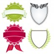 Various shields and crests - Stock Vector