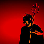 Red Satan — Stock Vector