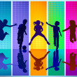 5 children to frolic - Stock Vector