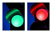 Traffic control signal red and green — Stock Vector