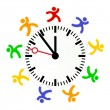 Time rule — Stock Vector