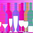 Liquors, wine and sparkling wine - Stock Vector