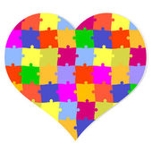 Puzzle heart — Stock Vector