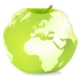 世界苹果 — 图库矢量图片