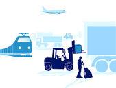 Transportation, shipping — Stock Vector