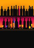 Bottles of spirits and liquor — Stock Vector