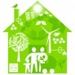 Ecological home — Vector de stock #4913413