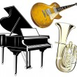 Musical instruments — Stock Vector #4913422