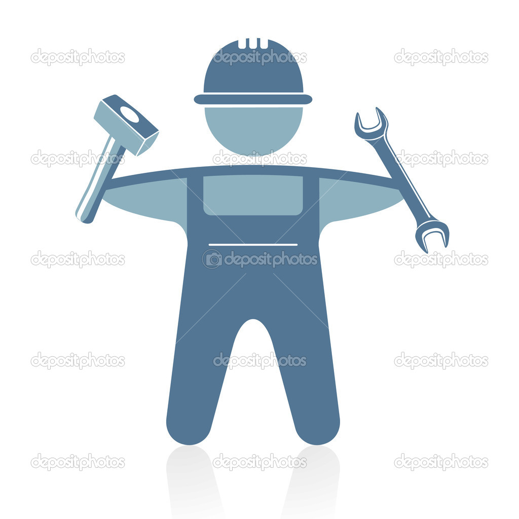 Craftsman with tools  Stock Vector #4913420