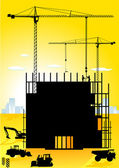 High-building — Stockvektor