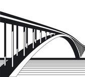 To bridge — Stock Vector