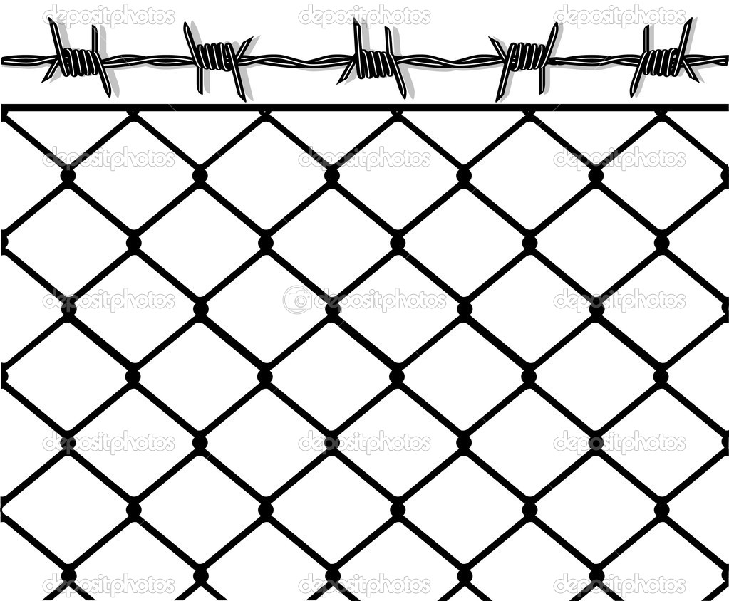To put up a fence  Stock Vector #5000811