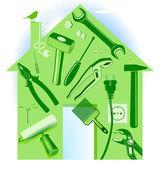 Hand tool house — Stock Vector
